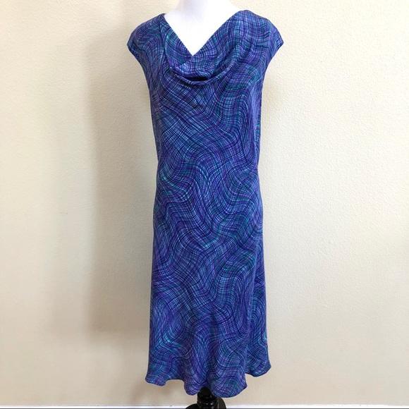 f70fd20b0de0 Anne Klein Dresses | 100 Silk Multi Color Draped Dress | Poshmark